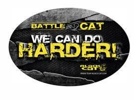 "Naklejka Black Cat 'We can do harder!"" - 12x8cm"